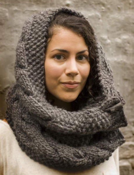 Hooded Cowl Knit Pattern : Miss Julias Patterns: Free Patterns - 50 Fabulous Cowls/Wraps to Knit &a...