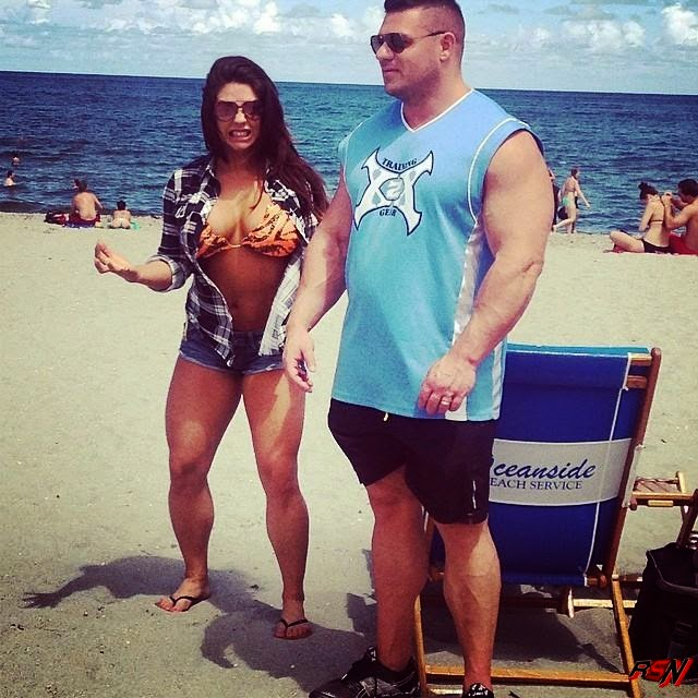 Photo of Kaitlyn and Her Roid Up Husband.