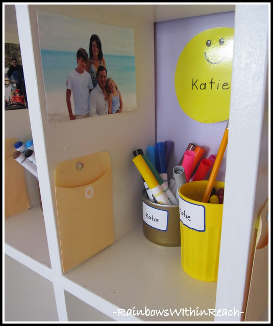 photo of: Individual Cubbies at School (Organizational RoundUP from RainbowsWithinReach) 