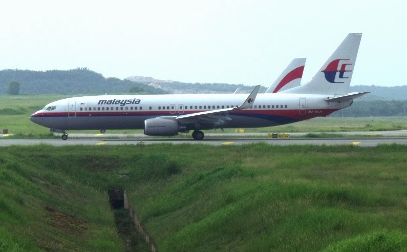 Plane take off or landing Malaysia Airlines