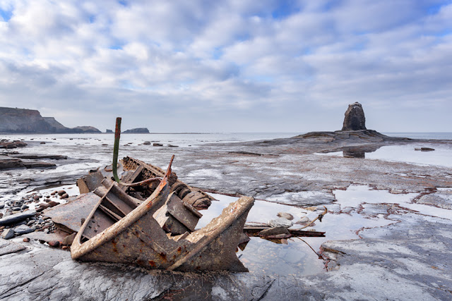The wreck of Admiral Von Tromp at Salwick Bay in North Yorkshire by Martyn Ferry Photography