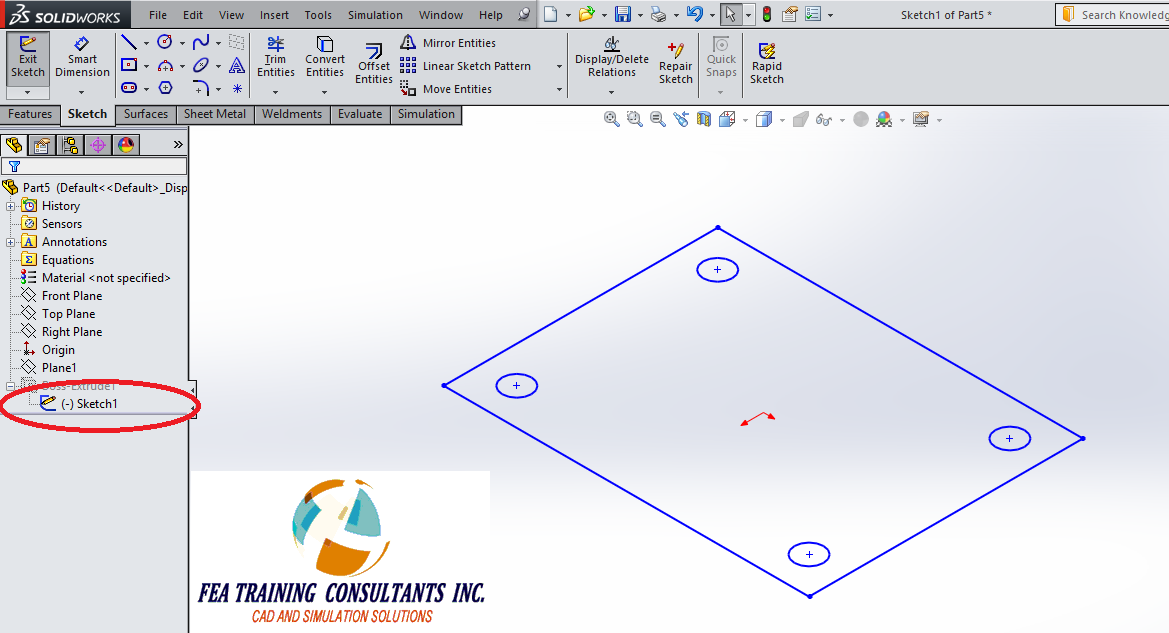 sketch model in solidworks