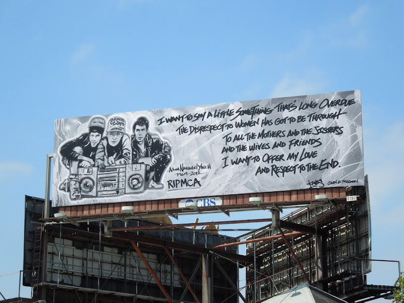 RIP MCA billboard