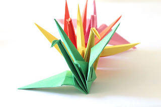 cara membuat origami bird base