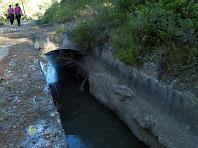 Un dels pontets que creuen el canal