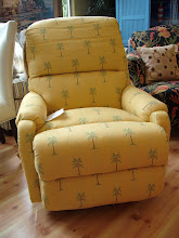 Yellow Recliner w/ Palm Trees