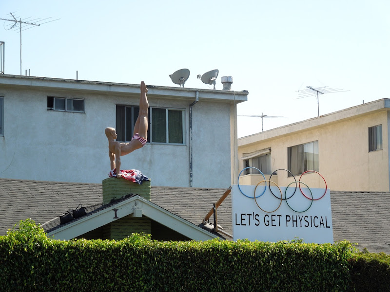 Let's Get Physical Olympics rooftop installation