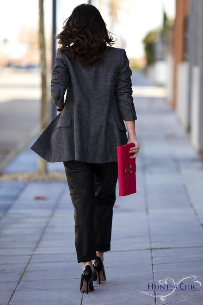 Uterqüe leather pants-zara overside jacket-los top 3-los 10 mejores blogs-HunterChic by Marta-Gucci shoes-SL
