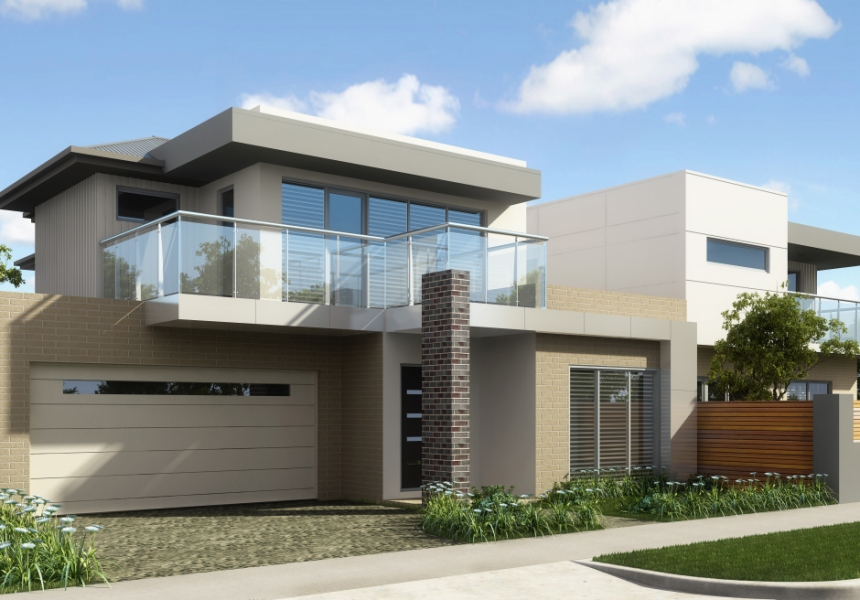 3d front europe modern house 3d design for American house design
