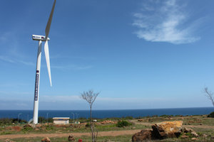 Wind turbine on Phú Quý island