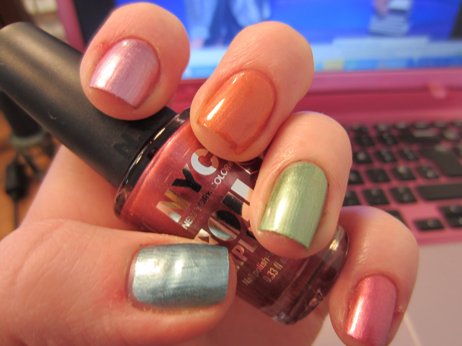 NailsByNumbers: NYC Foil Explosion Nails Review