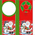 Santa and Snowman: Free Printable Candy Bar Labels.