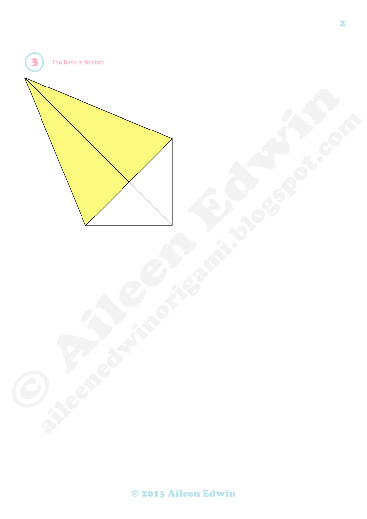 Origami kite base diagrams