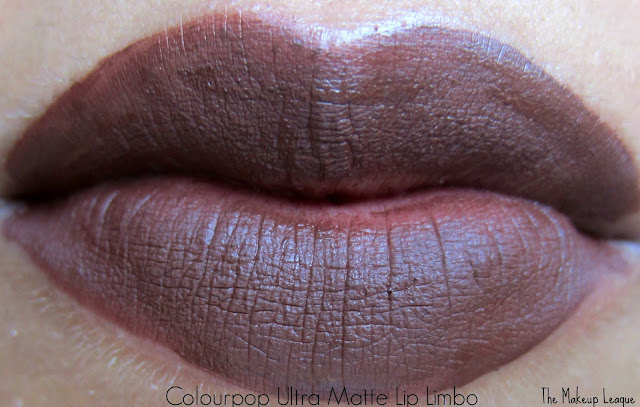 Colourpop ultra matte lip limbo swatch