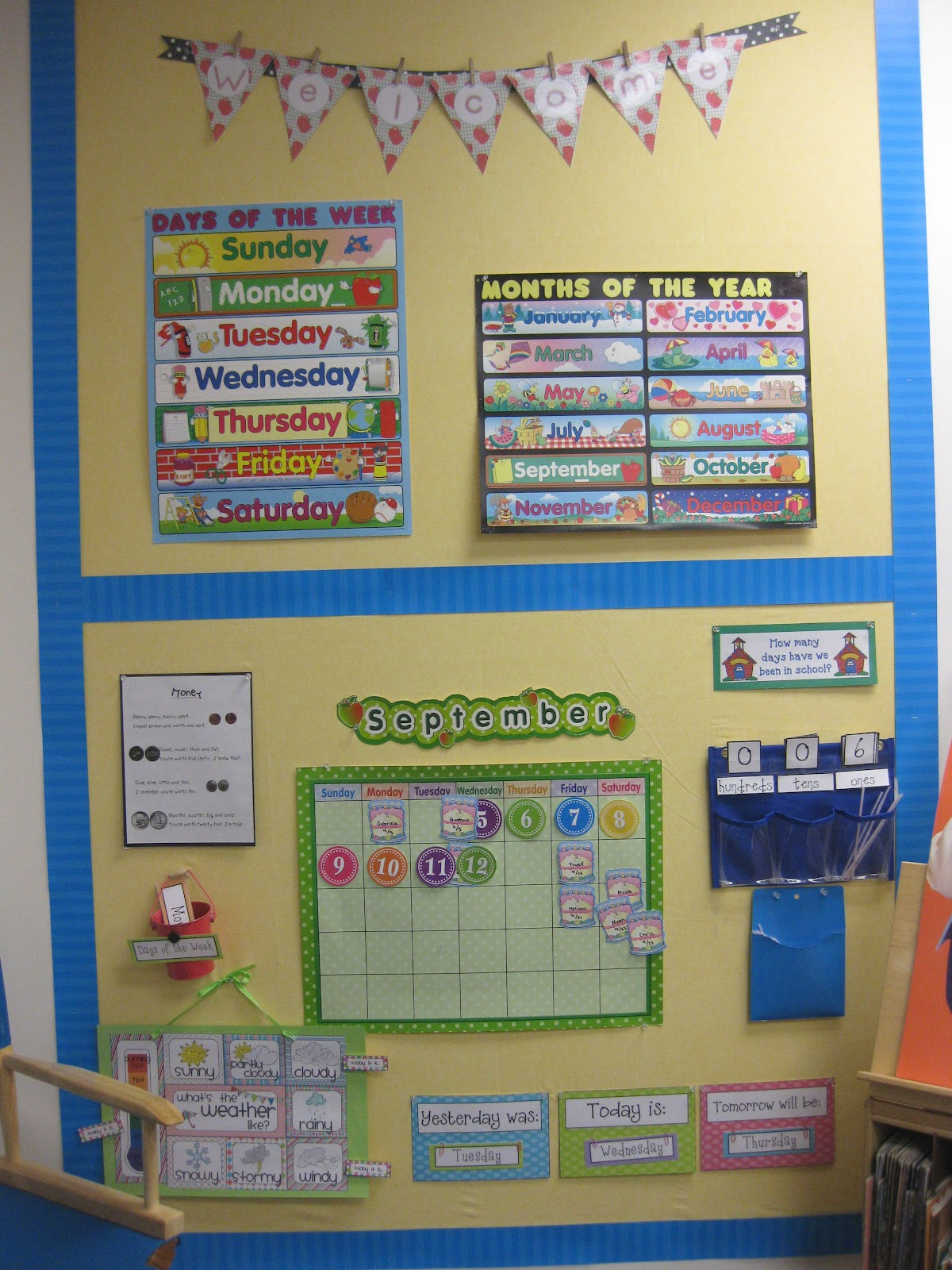 Kindergarten Calendar Wall : Some classroom photos miss kindergarten