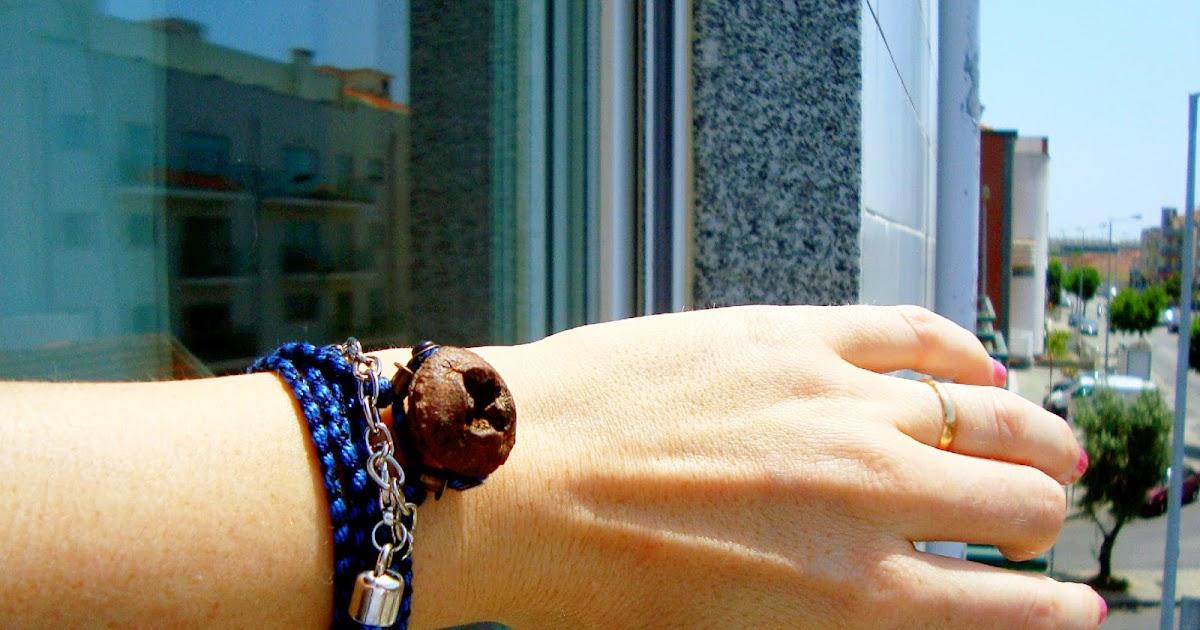 Giosennifer braccialetti profumati fatti a mano con semi di eucalipto tutorial su come si - Telaio da tavolo per tessitura a mano ...