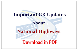 List of National Highways, their Length and its Crossing States in India