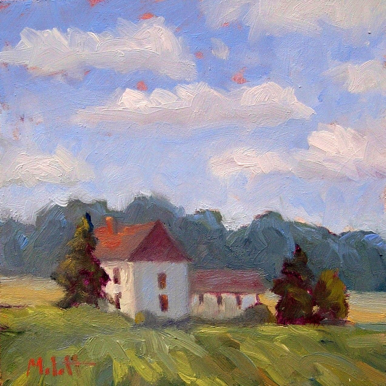 Old Farmhouse Painting This painting is 6 quot x6 quot  oil onOld Farmhouse Painting