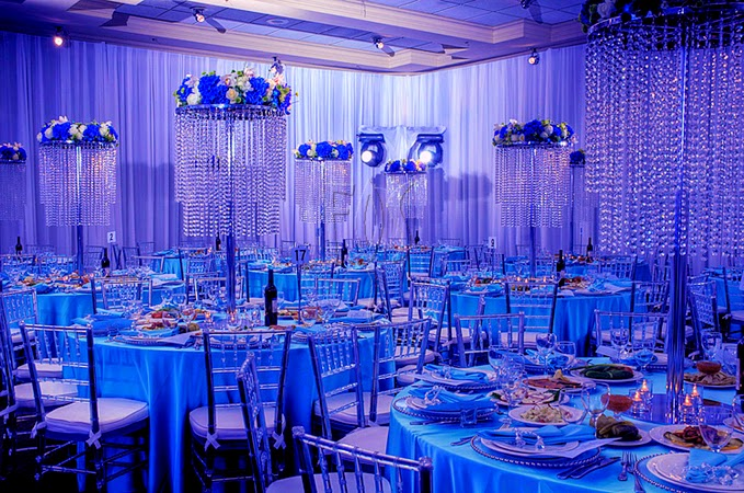 Light Blue And White Outdoor Reception Decor New Wedding Theme