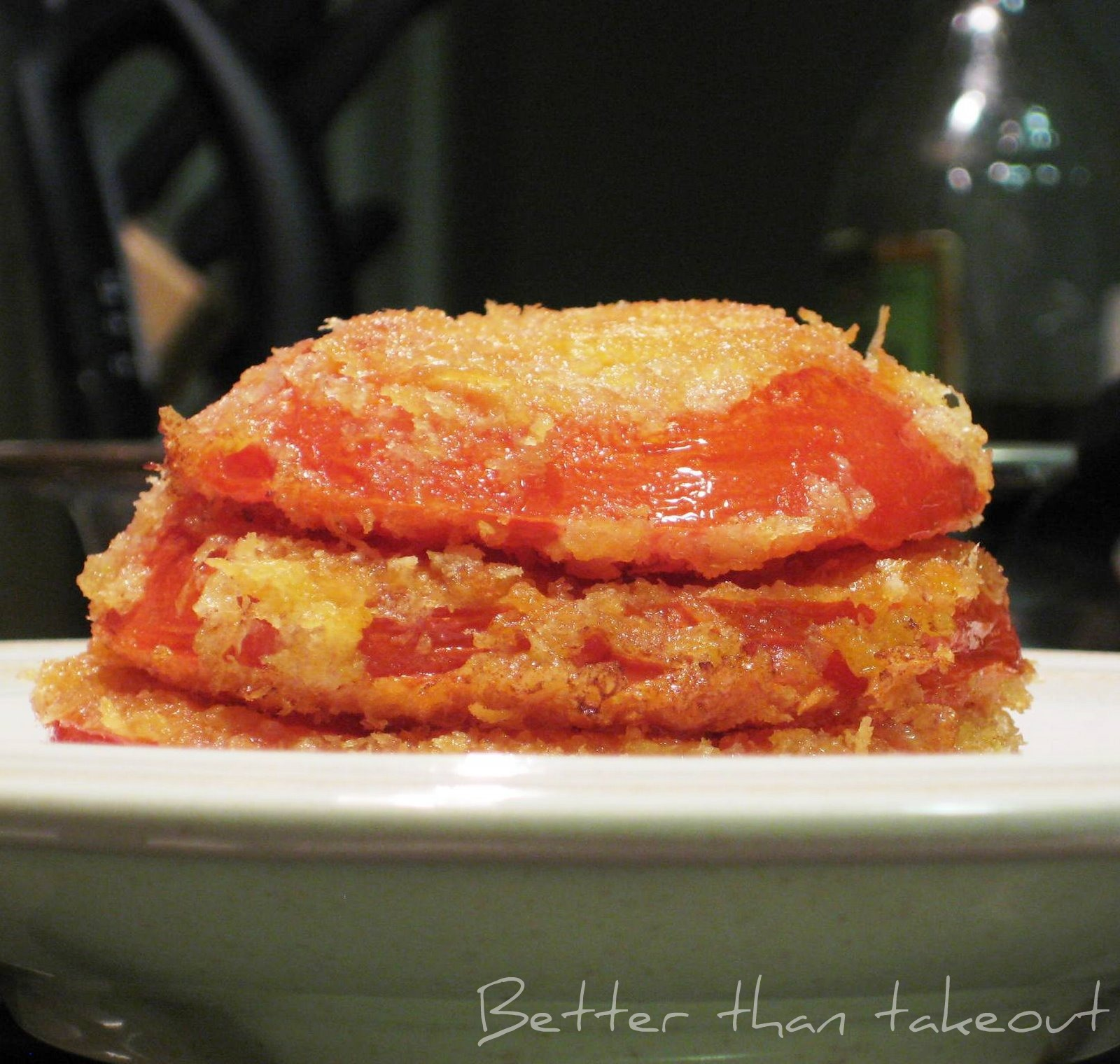 Better than takeout: Fried Red Tomatoes