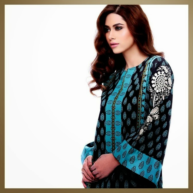 Elegant Blue Lawn Collection 2014