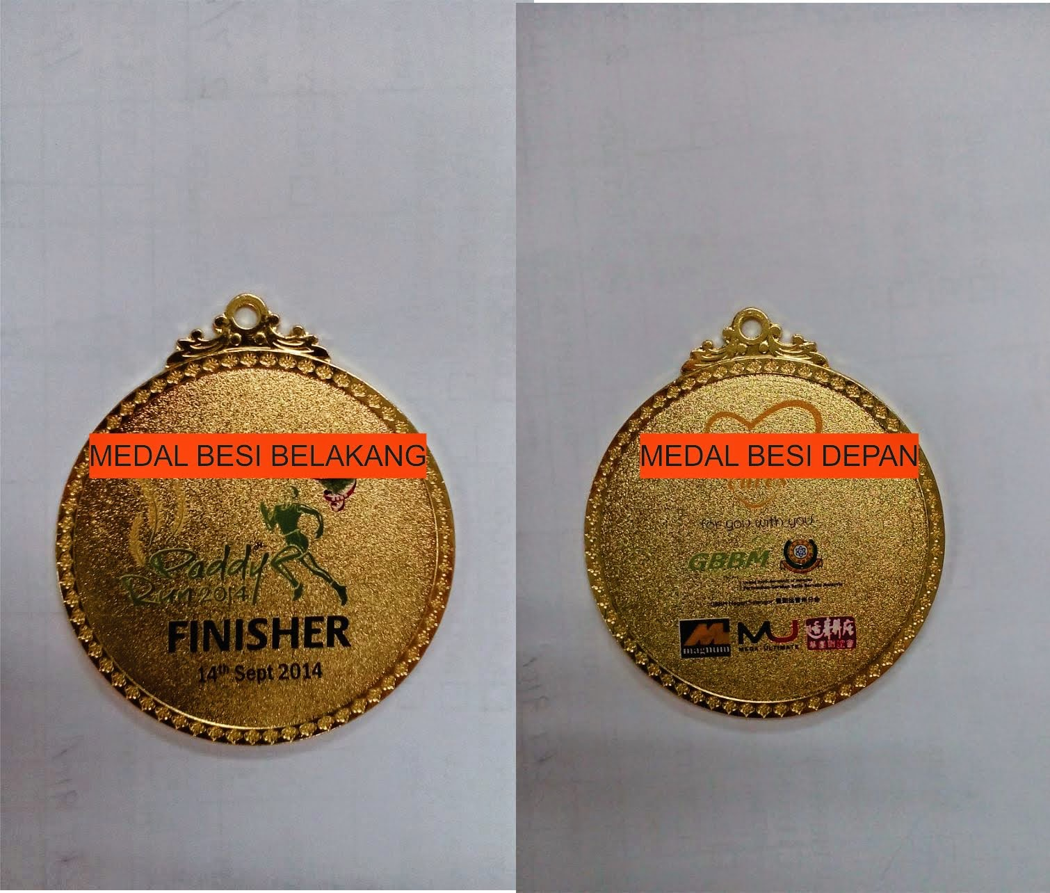 MEDAL BESI CUSTOMADE