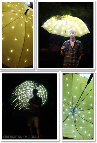 Paraguas luminoso