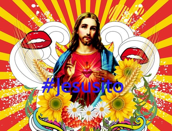 imagen de jesus con hashtag