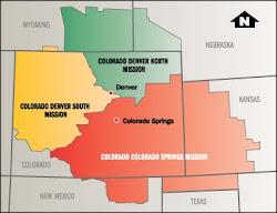 Map of Colorado Denver South