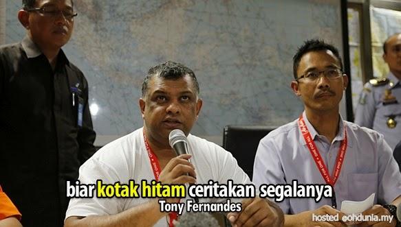 Biar kotak hitam QZ8501 beritahu segala-galanya – Tony Fernandes