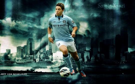 Samir Nasri wallpaper Manchester City