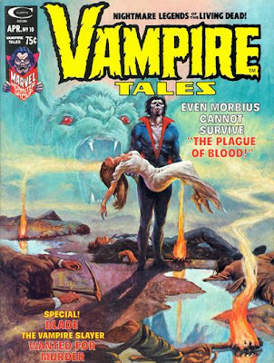 Vampire Tales #10, Morbius and the Plague of Blood, Cover by Richard Hescox