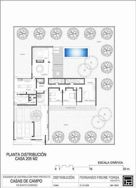 La forma moderna en latinoam rica casas patio 3 parte for Distribucion casa