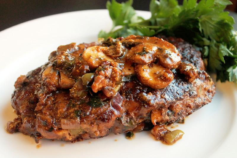 Creole Salisbury Steak with Mushroom Gravy (TNT) Cccccc66+120edited