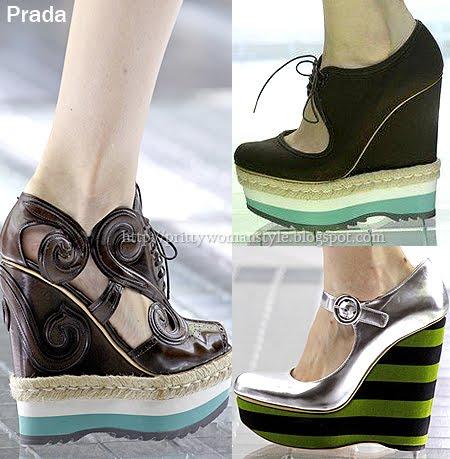 обувки на платформа Prada