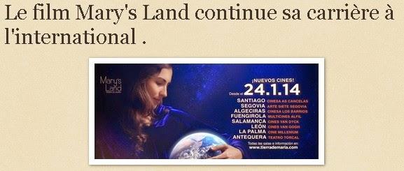 Le film Mary's Land continue sa carrière à l'international .