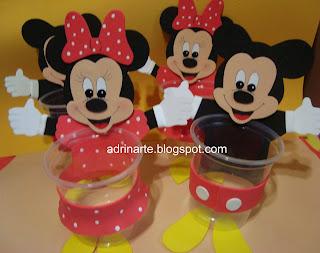 Lembrancinha Do Mickey E Da Minie   EVA
