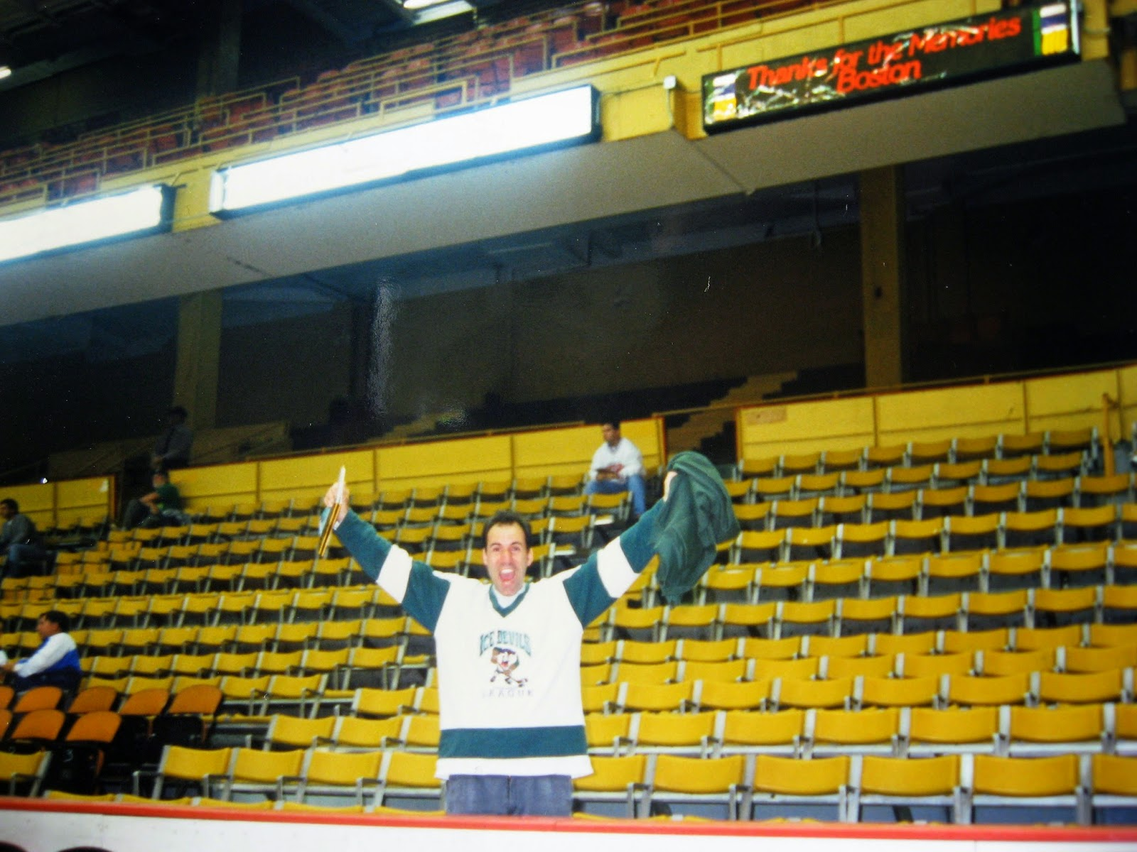 Tommy Mondello standing in the old  Boston Garden for the first... AND last time 1996