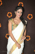 Actress Nivitha Glamorous photos in Saree-thumbnail-5