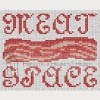 meat space bacon neuromancer cross stitch chart