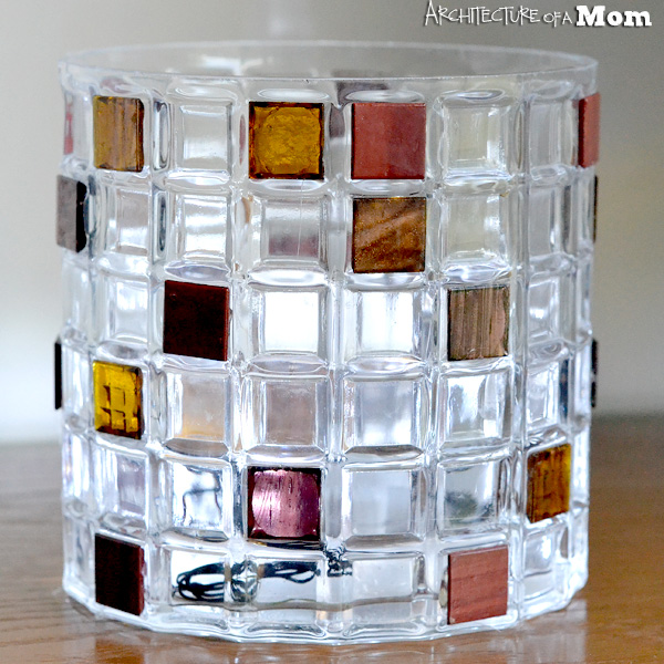 Architecture Of A Mom Glass Tile Embellished Vase For Fall