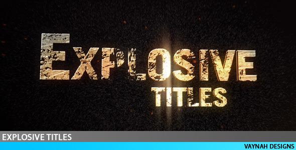 VideoHive Explosive Titles Trailer HD
