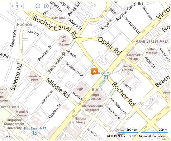 Bugis Street Singapore Location Map,Location Map of Bugis Street Singapore,Bugis Street Singapore Accommodation Destinations Attractions Hotels Map, bugis street shopping market food court singapore