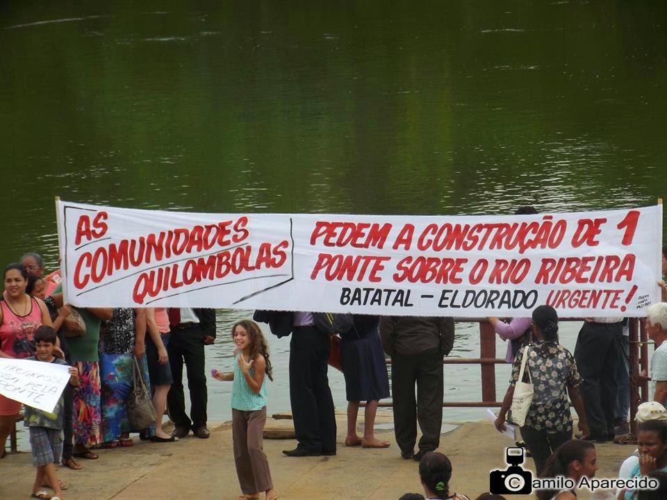 Ato público em prol da construção da Ponte sobre o Rio Ribeira de Iguape no bairro Batatal em Eldorado-SP