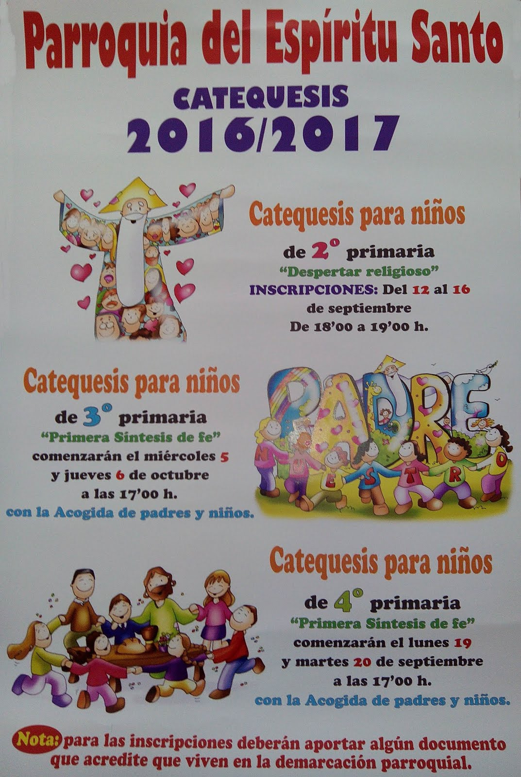Catequesis infantiles 2016/17