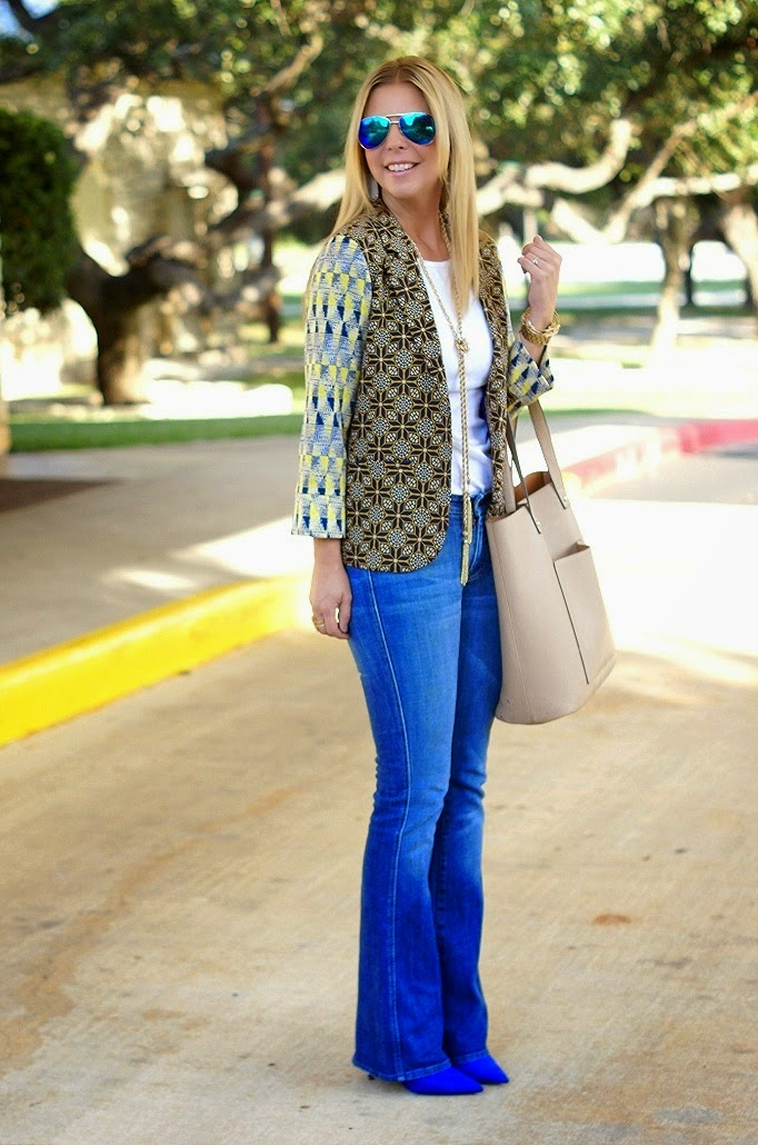 Abstract Printed Blazer