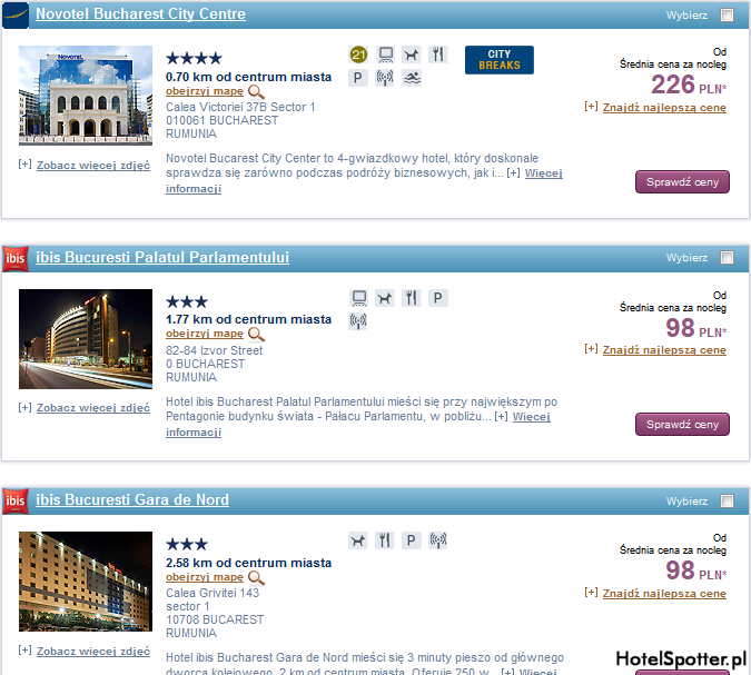 Tanie hotele Accor - Bukareszt Rumunia