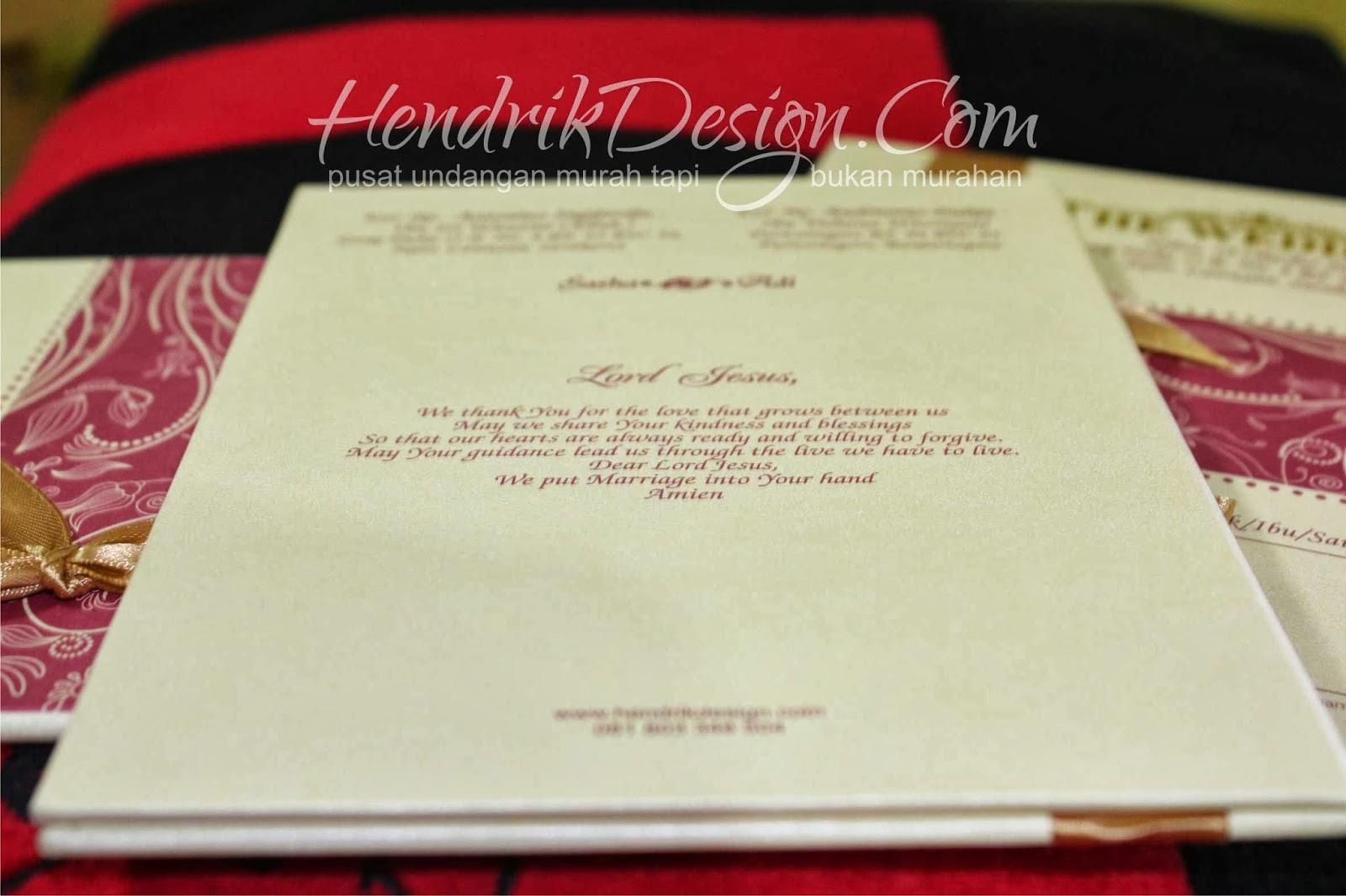 Contoh Undangan Pernikahan Pita Pink Depan (HCGD-13)