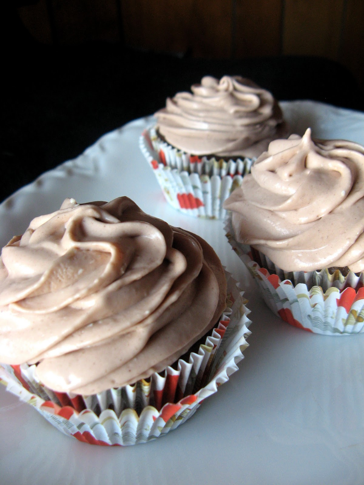 Chocolate Cupcakes with Hot Chocolate Frosting - Crunchy Creamy Sweet