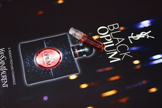 "Yves Saint Laurent YSL ""Black Opium"" perfume, sample with Marie Caire Italy magazine. Best perfume for winter 2014/2015."